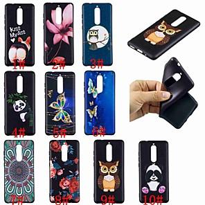 """economico Custodie / cover per Galaxy serie S-Custodia Per Nokia Nokia 8 / Nokia 6 / Nokia 5 Fantasia / disegno Per retro Farfalla / Fantasia """"Gufo"""" / Panda Morbido TPU"""