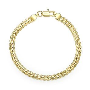 ieftine Brățări-Bărbați Pentru femei Brățări cu Lanț & Legături Eliminat Prețios Stilat Alamă Bijuterii brățară Auriu / Argintiu Pentru Zilnic Muncă / Argilă / Placat Auriu