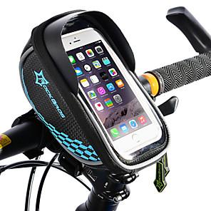 ieftine Cercei-ROCKBROS Telefon mobil Bag Genți Cadru Bicicletă Genți Ghidon Bicicletă Ecran tactil Reflexiv Impermeabil Geantă Motor TPU EVA Poliester Geantă Biciletă Geantă Ciclism iPhone X / iPhone XR / iPhone XS
