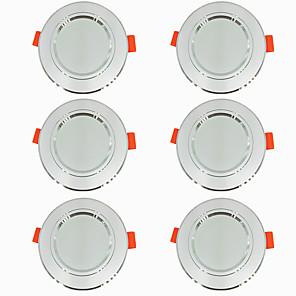 ieftine Lumini LED de Scenă-6pcs 5 W 360 lm 10 LED-uri de margele Ușor de Instalat Încastrat LED Tavan Alb Cald Alb Rece 220-240 V Acasă / Birou Living / Dinning / CE