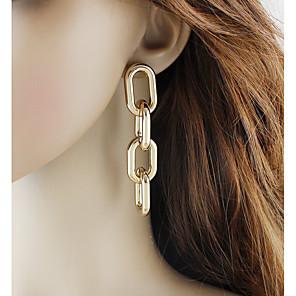 ieftine Gadget Baie-Pentru femei Cercei Picătură Link / Lanț De Bază Modă cercei Bijuterii Auriu / Argintiu Pentru Zilnic Dată 1 Pair