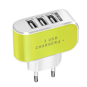 ieftine Mufă de încărcare-Încărcător Portabil Încărcător USB Priză EU Normal 3 Porturi USB 3.1 A DC 5V pentru