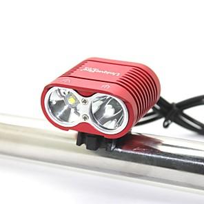 ieftine Frontale-Lumini de Bicicletă Rezistent la apă Reîncărcabil 2000 lm LED LED 0 emițători 3 Mod Zbor Cu Baterie și Încărcător Rezistent la apă Reîncărcabil Rezistent la Impact Camping / Cățărare / Speologie