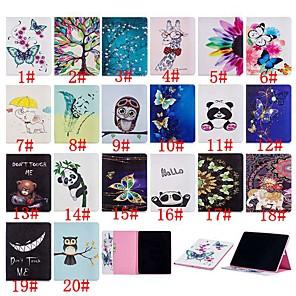 abordables Pochettes / Coques d'iPad-Coque Pour Apple iPad Pro 12.9'' Porte Carte / Antichoc / Avec Support Coque Intégrale Papillon / Panda / Fleur Dur faux cuir