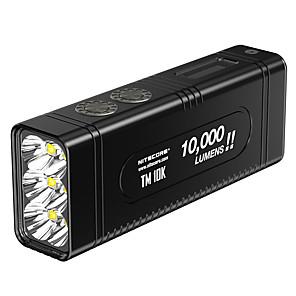 Недорогие Чехлы и кейсы для Galaxy S-Nitecore TM10K Ручные фонарики Светодиодная лампа LED излучатели 1 Режим освещения с батарейками и зарядным устройством Cool Повседневное использование