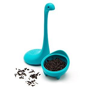 levne Čajové náčiní-3 barvy čaj infusers vodní monstrum tvar silikonové cedníky čaj sítko infuser