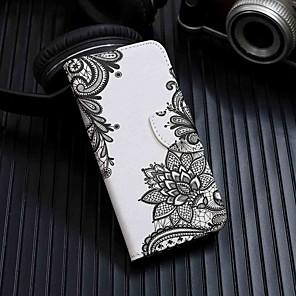ieftine Accesorii GoPro-Maska Pentru Samsung Galaxy Galaxy A7(2018) / Galaxia A10 (2019) / Galaxia A30 (2019) Portofel / Titluar Card / Cu Stand Carcasă Telefon Floare PU piele