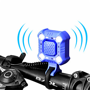 ieftine USB-uri-WEST BIKING® Clopoței Bicicletă Impermeabil Ușor Lumini LED Reîncărcabil Rezistent la uzură Pentru Bicicletă șosea Bicicletă montană Ciclism ABS Negru Portocaliu Albastru