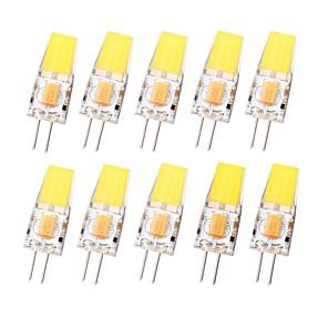 ieftine Becuri LED Bi-pin-SENCART 10pcs 3 W Becuri LED Bi-pin 450 lm G4 T 1 LED-uri de margele COB Rezistent la apă Intensitate Luminoasă Reglabilă Alb Cald Alb Rece 12-24 V