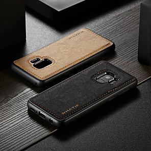 povoljno Naušnice-Θήκη Za Samsung Galaxy S9 Vodootporno / Otporno na trešnju / Uradi sam Stražnja maska Jednobojni Tvrdo PU koža