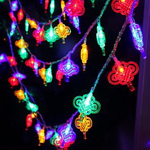 ieftine Brățări-5m chineze noduri cu șnur chinezesc 40 leduri multicolor nou an decorativ acasă 220-240 v 1 set