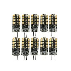 ieftine Imbracaminte & Accesorii Căței-10pcs 3 W Becuri LED Bi-pin 90-105 lm G4 T 48 LED-uri de margele SMD 3014 Încântător Alb Cald Alb Rece 12 V