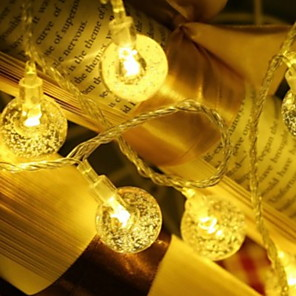 ieftine Lupe-10m Fâșii de Iluminat 100 LED-uri 1set Alb Cald Decorativ 220-240 V