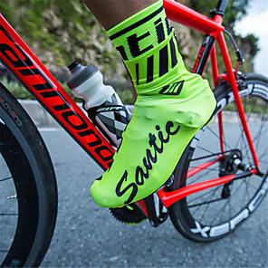 ieftine Audio & Video-SANTIC Adulți Ciclism Impermeabil Anti-Alunecare Sporturi multiple Ciclism / Bicicletă Trifoi Negru Roșu-aprins Unisex Pantofi de Ciclism