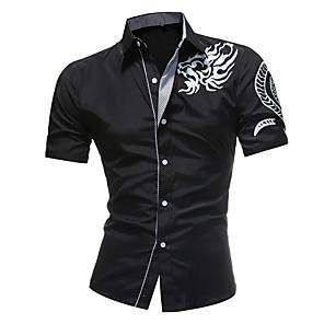 povoljno Muške košulje-Majica Muškarci Dnevno Etno Slim Obala / Kratkih rukava