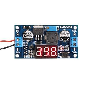 ieftine Senzori-lm2596 transformator de control analogic dc-dc reductor de tensiune regulator modul stabilizator cu voltmetru led roșu