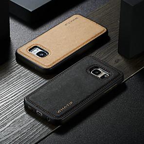povoljno Naušnice-Θήκη Za Samsung Galaxy S7 Vodootporno / Otporno na trešnju / Uradi sam Stražnja maska Jednobojni Tvrdo PU koža