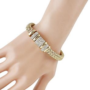 ieftine Brățări-Pentru femei Brățări cu Lanț & Legături Chainul gros Baht Chain La modă Modă Ștras Bijuterii brățară Auriu Pentru Zilnic Dată