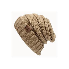 ieftine Pălării Femei-Unisex Mată Birou Activ,Îmbrăcăminte tricotată-Beanie / Slouchy Toamnă Iarnă Negru Bleumarin Roșu Vin