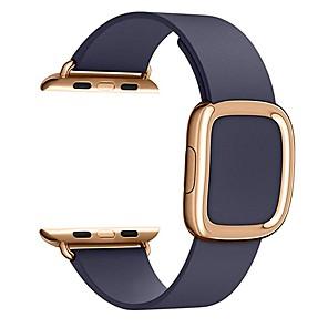 ieftine Produse Fard-Uita-Band pentru Apple Watch Series 5/4/3/2/1 / Apple Watch Series 4 Apple Catarama moderna Piele Autentică Curea de Încheietură