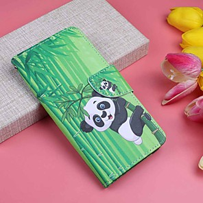 ราคาถูก การวัดและเครื่องชั่ง-Case สำหรับ Apple iPhone XS / iPhone XR / iPhone XS Max Wallet / Card Holder / with Stand ตัวกระเป๋าเต็ม Panda Hard หนัง PU