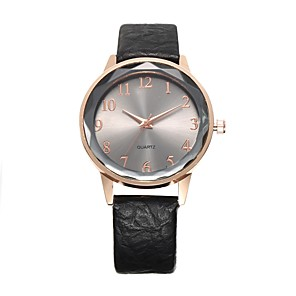 cheap Women's Watches-Women's Bracelet Watch Casual Minimalist Black Red Brown PU Leather Chinese Quartz Black Champagne Red Cute Casual Watch 30 m 1 pc Analog One Year Battery Life / Jinli 377