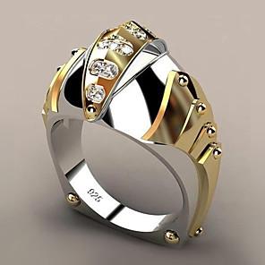 Dame Band Ring Syntetisk Diamant 1pc Gul Gullbelagt Legering Geometrisk Form trendy Fest Gave Smykker geometriske Fisk Kul