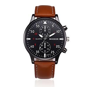 ieftine Ceasuri Bărbați-Bărbați Ceas Elegant Quartz Piele Negru / Albastru / Maro Ceas Casual Analog Modă Ceas Global - Negru Maro Albastru Un an Durată de Viaţă Baterie / Oțel inoxidabil