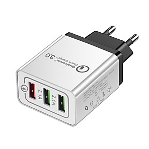 ieftine Mufă de încărcare-Încărcător Portabil Încărcător USB USB Multi-Ieșiri 3 Porturi USB 3 A 100~240 V pentru Παγκόσμιο