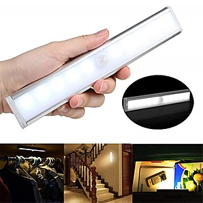 ieftine Benzi Lumină LED-1 buc 100 lm 10 LED-uri de margele Senzor de Lumină Senzor cu Infraroșii Ușor de Instalat Lumini LED Cabinet Alb Cald Alb Acasă / Birou Bucătărie Dormitor / RoHs / CE