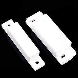 povoljno Sigurnosni senzori-10pcs / lot magnetski kontakt reed prekidač ožičen prozor prozora otvoren alarm senzor prekidači normalno zatvorena vrata magnet