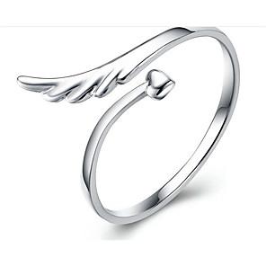 olcso Gyűrűk-Női Gyűrű 1db Ezüst S925 ezüst Geometric Shape Divat Ajándék Napi Ékszerek Klasszikus Szeretetreméltő
