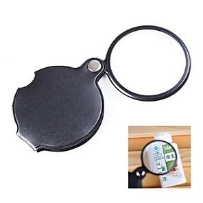 저렴한 돋보기-미니 포켓 10 배 접이식 쥬얼리 돋보기 확대경 고해상도 광학 유리 읽기 시계 수리 안경 유리 확대경