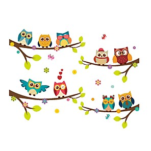 povoljno Ukrasne naljepnice-Životinje / Cvjetni / Botanički Zid Naljepnice Naljepnice za zidne zidove Dekorativne zidne naljepnice, PVC Početna Dekoracija Zid preslikača Zid Ukras 1set / Može se prati