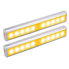 ieftine Lumini Pandativ-2pcs 1 W 100 lm 10 LED-uri de margele Senzor de Lumină Senzor cu Infraroșii Ușor de Instalat Lumini LED Cabinet Alb Cald Alb Acasă / Birou Bucătărie Dormitor / RoHs / CE