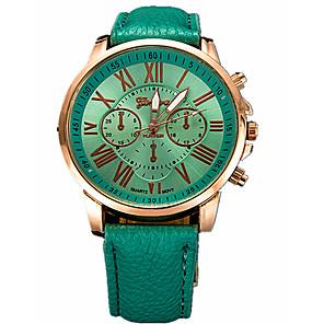 ieftine Cuarț ceasuri-Pentru femei Ceas Sport Ceas Elegant Ceas de Mână Quartz Casual Fără trei ochi șase ace Piele Negru / Alb / Albastru Analog - Alb Negru Verde Închis Un an Durată de Viaţă Baterie / Oțel inoxidabil