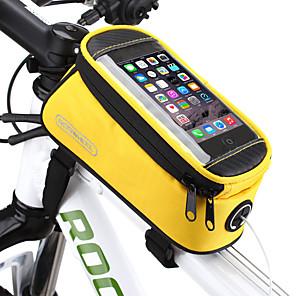 זול מצלמות ספורט ומיני-ROSWHEEL 1.2/1.5 L טלפון נייד תיק תיקים למסגרת האופניים עמיד ללחות רוכסן עמיד למים לביש תיק אופניים PVC טרילן רשת תיק אופניים תיק אופניים iPhone X / iPhone XR / iPhone XS רכיבה על אופניים / אופנייים