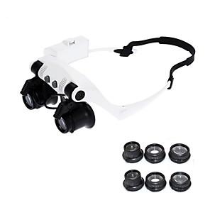 ieftine Lupe-10x 15x 20x 25x ochelari de vedere ochi iluminat lupă lupă ceas repararea loupe cu lumini led