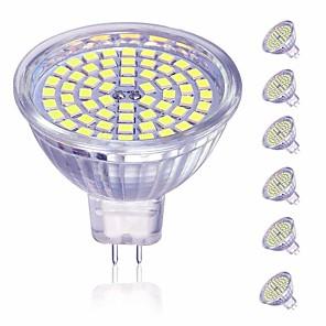 ieftine Ustensile & Gadget-uri de Copt-6pcs 5 W Spoturi LED 450 lm MR16 60 LED-uri de margele SMD 2835 Decorativ Încântător Alb Cald Alb Rece 220-240 V