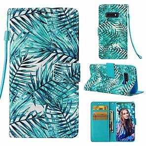 Недорогие Защитные плёнки для экранов Samsung-Кейс для Назначение SSamsung Galaxy S9 / S9 Plus / S8 Plus Кошелек / Бумажник для карт / Флип Чехол Растения Твердый Кожа PU