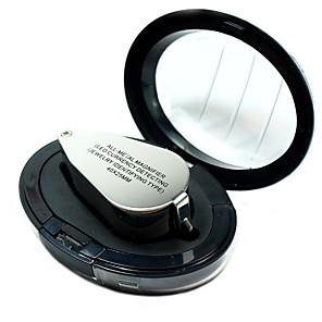 ieftine Lupe-9890 mini portabil mini 40 x loupe magnifier magnific triplet bijutieri ochi de sticla bijuterii diamant cu lumina ultravioleta condus lampa