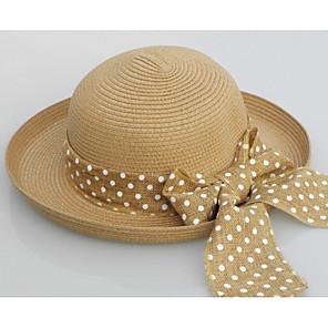 ieftine Pălării Femei-Pentru femei Mată Vintage,Paie-Paie Căciulă Alb Bej Kaki