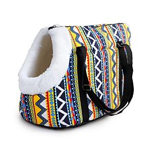 ieftine Câini Articole şi Îngrijire-Câini Pisici Animale Mici Portbagaje & rucsacuri de călătorie Umăr Bag Impermeabil Portabil Mini Animale de Companie  Material Textil Mată Curcubeu Rosu Albastru