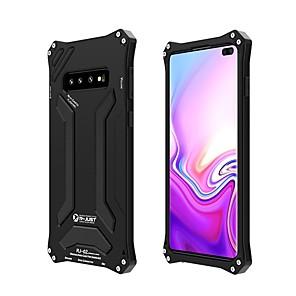 Недорогие Чехол Samsung-Кейс для Назначение SSamsung Galaxy Galaxy S10 / Galaxy S10 Plus Защита от удара / Защита от влаги Чехол броня Твердый силикагель / Металл
