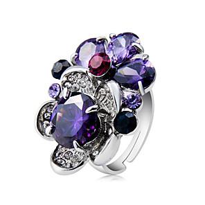 ieftine Inele-Pentru femei Inel de declarație Inel Cristal 1 buc Mov Articole de ceramică Argilă Diamante Artificiale Design Unic La modă Hiperbolă Petrecere Serată Bijuterii Cool
