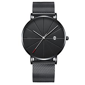 ieftine Ceasuri pt Rochii-Bărbați Ceas Elegant Quartz Lux Calendar Oțel inoxidabil Negru / Argint / Auriu Analog - Auriu+Negru Roz auriu Negru Un an Durată de Viaţă Baterie