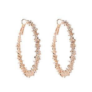 hesapli Küpeler-Kadın's Halka Küpeler Basit moda Moda Modern Küpeler Mücevher Altın / Gümüş Uyumluluk Cadde Dışarı Çıkma Çalışma Kulüp Bar 1 çift