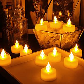 povoljno Ženski satovi-LED noćno svjetlo / Plamene svijeće Sigurnost / Jednostavno za nošenje / Lampa atmosfere Gumb Baterija pogonjena 18pcs