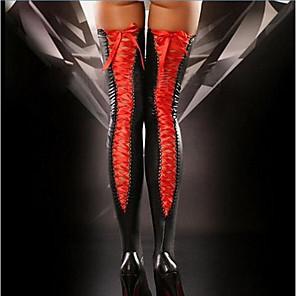 ieftine Produse Fard-Pentru femei Super Sexy Ciorapi - Mată Subțire Negru Roșu-aprins Mov Mărime unică