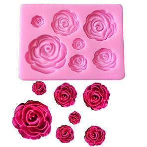 ieftine Ustensile & Gadget-uri de Copt-trandafir flori în formă de fondant silicon mucegai craft mucegai de copt ciocolată